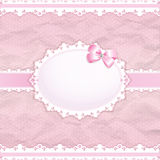 Baby shower for girl. Pink pastel tones, vector eps10 Royalty Free Stock Photo