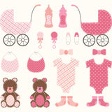 Baby Shower Girl Set Stock Images