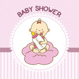 Baby shower girl Stock Images
