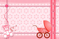 Baby shower greeting card Royalty Free Stock Images