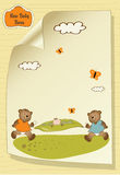 Baby shower greeting card Stock Images