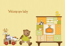 Baby shower greeting card Royalty Free Stock Photos