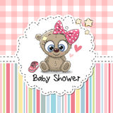 Baby Shower Greeting Card with Bear Stock Image