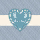 Baby shower greeting card for boys Royalty Free Stock Photo