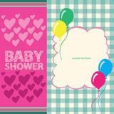 Baby Shower Greeting Card Cute Royalty Free Stock Photo