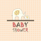 Baby shower greeting card Royalty Free Stock Photo