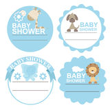 Baby Shower greeting card or frames Stock Images