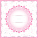 Baby Shower greeting card for Girl. Vector Illustration Of a Baby Shower greeting card for baby girl with baby stuff background Royalty Free Stock Image