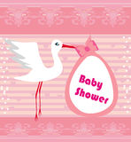 Baby shower greeting card Stock Photos