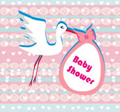 Baby shower greeting card Royalty Free Stock Image