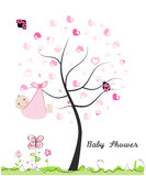 Baby shower greeting card.  Stock Photo
