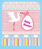 Baby shower greeting card Royalty Free Stock Photography