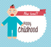 Baby shower and happy, childhood, Royalty Free Stock Photos