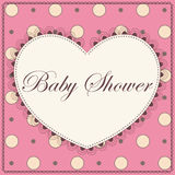 Baby shower with heart pink vintage Stock Photo