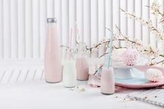 Baby shower i rosa färger och blått Royaltyfri Fotografi