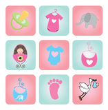 Baby shower Stock Image