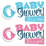 Baby Shower Illustration Royalty Free Stock Image