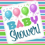 Baby Shower Illustration Royalty Free Stock Images