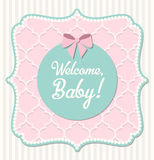 Baby shower, illustration Stock Photography