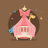 Baby shower illustration vector Royalty Free Stock Photography