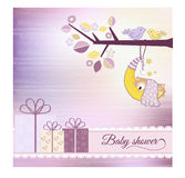 Baby shower invitation. With cute teddy bear Stock Images