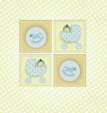 Baby Shower Invitation. Sweet Welcome the New Baby Card Royalty Free Stock Photos