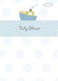 Baby shower invitation. New baby boy shower invitation Royalty Free Stock Images