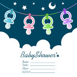 Baby Shower Invitation royalty free illustration