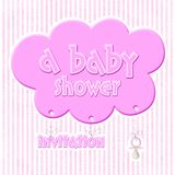 Baby shower - invitation Stock Images