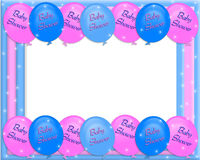 Baby shower invitation border royalty free illustration