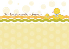 Baby shower invitation card Royalty Free Stock Image