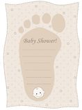 Baby shower invitation card Royalty Free Stock Photos