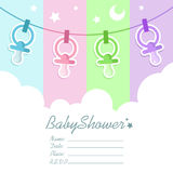 Baby Shower Invitation Card Royalty Free Stock Photo