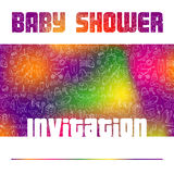 Baby Shower Invitation Card Royalty Free Stock Photo