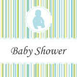 Baby shower invitation card. Royalty Free Stock Photography
