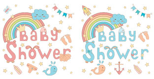Baby shower invitation card Stock Photos