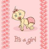 Baby shower invitation card Stock Photo