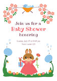 Baby shower invitation card Royalty Free Stock Photography