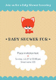 Baby shower invitation card Royalty Free Stock Photos