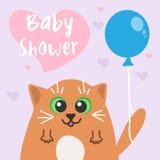 Baby shower invitation card. vector  Royalty Free Stock Photos