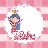 Baby shower invitation card royalty free illustration