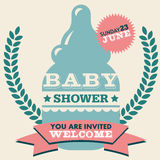 Baby Shower Invitation Card Stock Photography