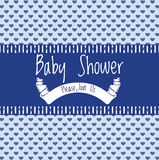 Baby shower invitation card Royalty Free Stock Images
