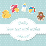 Baby shower invitation card. Place for text.  Greeting cards Royalty Free Stock Photos
