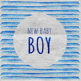 Baby Shower Invitation Card. It`s a Boy. New baby boy. Royalty Free Stock Images