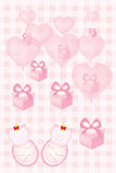 Baby shower invitation card for twin babies vector illustration Royalty Free Stock Photos