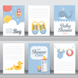 Baby shower invitation card, vector Royalty Free Stock Photos