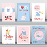 Baby shower invitation card. vector Royalty Free Stock Photos