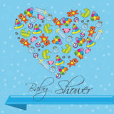 Baby Shower Invitation Card in Vector Stock Photography