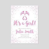 Baby shower invitation card Stock Images